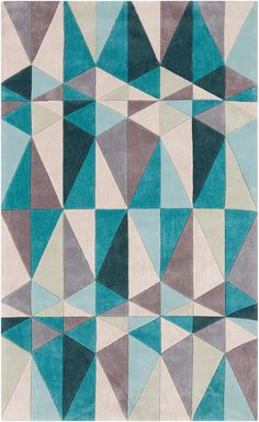 Just for You Conroy Teal Blue/Blue Haze Area Rug by Wrought Studio Grey Rugs, Beige Area Rugs, Blue Rugs, Chevron, Contemporary Area Rugs, Modern Rugs, Modern Decor, Blue Area, Embroidery Designs