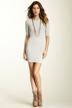 People Lady Pucker Scoop Back Dress- I want this