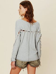 Lace Up Pullover by Freepeople Clothes Horse, Diy Clothes, T Shirt Weaving,  Altering 1dc02ce17a