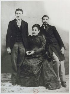 Marcel Proust and his mother and brother Robert, ca. 1895