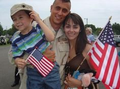 Army Dad returns home