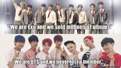 How to piss off exo-ls<< how to be immature, army knows this was unnecessary and no, im not a pissed exo fan bc im an army myself and im not a fan of exo but a lot of fans just start fan wars for absolutely nothing. k-artists already have trouble with trying to 'fit' in without fans of more 'mainstream' or american/english bands/singers trying to break us down. at least stand together in the world of kpop instead of starting fanwars wtf