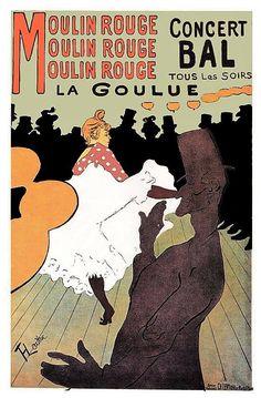 Moulin Rouge Bal Tous Les Soirs Henri Toulouse Lautrec