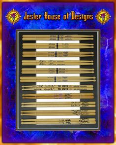 Holds 11 pairs of drumsticks