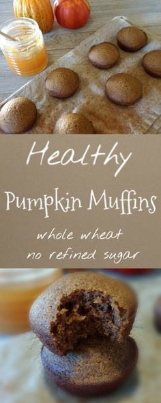 Pumpkin muffins that are great for breakfast or a snack any day of the week! They are so fast and easy to make. Eat healthy to be healthy!