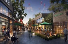 Landscape gardening name ideas shopping mall interior, shopping street, sho Shopping Mall Interior, Shopping Street, Street Mall, Mall Design, Retail Design, Chengdu, Architecture Visualization, Modern Architecture, Landscape Plans