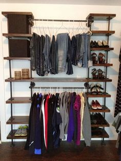 Marvelous How To Build An Industrial Plumbing Pipe Closet Organizer.