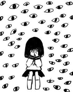 black and white image Pretty Art, Cute Art, Art Sketches, Art Drawings, Arte Grunge, Vent Art, Arte Obscura, Scary Art, Funky Art