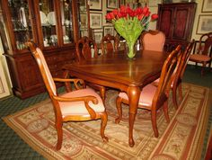 Thomasville British Gentry Dining Table 8 Chairs Encore Furniture Gallery