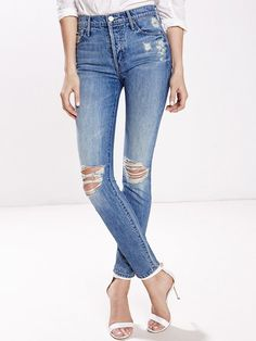 c8fa4513df81 Candice Swanepoel + Mother Stunner Jeans Holey Jeans, Blue Jeans, Circle  Fashion, Fresh
