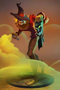 The Scarecrow by Brian Lawver - Batman & Villians Comic Book Art - Comic Book Characters, Comic Character, Comic Books Art, Comic Art, Character Design, Book Art, Nightwing, Batwoman, Batman Kunst