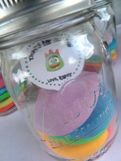 Rainbow colored sugar cookies? Yum.