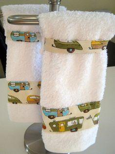 Hanging Hand Towels Retro Camper