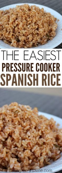 Try this Spanish rice pressure cooker recipe. This is the best Spanish Rice with… Try this Spanish rice pressure cooker recipe. This is the best Spanish Rice with brown rice you will make. Try this easy instant recipe today! Best Instant Pot Recipe, Instant Recipes, Instant Pot Dinner Recipes, Power Pressure Cooker, Instant Pot Pressure Cooker, Pressure King, Rice Recipes For Dinner, Side Dish Recipes, Yummy Recipes