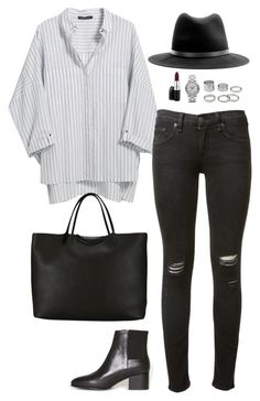 Sans titre #632 by romane-inspiration on Polyvore featuring polyvore, fashion, style, Violeta by Mango, rag & bone, Opening Ceremony, Givenchy, Marc by Marc Jacobs, MAC Cosmetics and clothing
