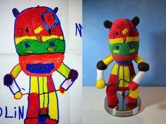 Turn kids' drawings into stuffed animals.