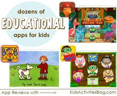 dozens of educational apps are featured here... great place to look if you want apps to help kids learn to read or review math concepts.