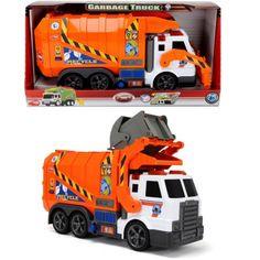 Dickie Toys Action Series 26 inch Garbage Truck, Orange