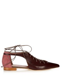 Click here to buy Malone Souliers Montana lace-up leather flats at MATCHESFASHION.COM