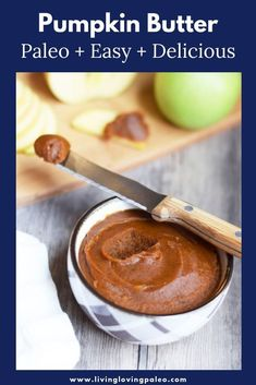Easy Paleo Pumpkin Butter is bursting with our favorite fall flavors Easy Paleo Pumpkin Butter is bursting with our favorite fall flavors Living Loving Paleo lovingpaleo Living Loving Paleo Recipes Naturally nbsp hellip Paleo muffins Fall Recipes, Real Food Recipes, Pumpkin Recipes, Healthy Recipes, Sauce Recipes, Best Fat Burning Foods, Butter Ingredients, Pumpkin Butter, Healthy Pumpkin