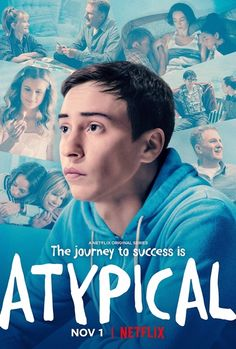 """The Netflix comedy """"Atypical"""" is the story of Sam, a young man with autism who is just starting out in life. His supportive family surround him. Netflix Original Series, Netflix Series, Series Movies, Movies And Tv Shows, Watch Movies, Matthew Morrison, Quinn Fabray, Chris Colfer, Gilmore Girls"""