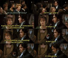 "Pride and Prejudice Darcy Inner Struggles...this would be funny if this was what was actually going through his mind, but Mr. Darcy was just an egotistical ""gentleman"" whose selfish disdain for the feelings of others nearly costs him the love of his life."