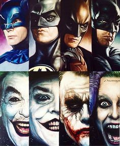 This is awesome. The many Batmans and Jokers. Reposted to share. #batman #joker
