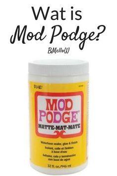 Wat is Mod podge- Uitleg wat het is en wat je er mee kan. Diy Mod Podge, Mod Podge Matte, Mod Podge Crafts, Fun Crafts, Diy And Crafts, Mod Podge Ideas, What Is Mod, Christmas Crafts For Adults, Foto Transfer