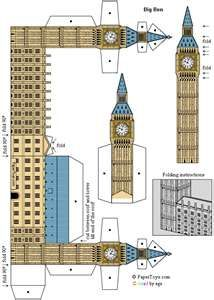 Big Ben paper model - make one and have the fairies of Iolanthe flying around it!