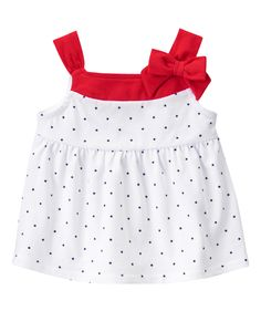 Star Print Bow Top at Gymboree Collection Name: Star-Spangled Summer (2015)