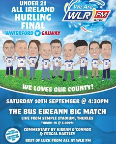 Excitement is building ahead of the U21 All-Ireland Final. Don't miss a minute of the action on WLR tomorrow! #LifeAtWLR #Waterford #UpTheDeise #hurling #WatVGal