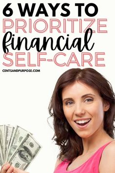 Financial self-care is so important to your financial health, mental health and even your physical health. When you're under a lot of financial stress it can impact your entire life including your relationships and marriage. Using these tips will help you prioritize your financial health and begin to include financial self care in your self-care routine! #selfcare