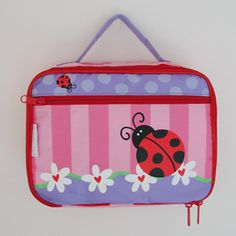 Great for Back to School. Fully insulated padded lunchbox.  Coordinate your Little Ladybug for Back to School with this Ladybug Lunchbox and coordinating Ladybug Backpack!  The Ladybug Lunchbox can be found at LadybugGiftStore.com