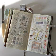 Colour versus monochrome... #colourswatch #colourchart #maskingtape #washitape #washi #travelersnotebook #travelers #midoritravelersnotebook #planner #planneraddict #plannerlove #journal #stationery #watercolour #watercolourpainting #winsorandnewton #holbein #danielsmith #doodle #naturejournal #iroshizuku