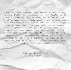 Lady Midnight Julian Blackthorn Love