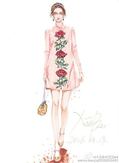 D&G手绘系列大片 你最钟爱哪一款@DolceGabbana @设计帝国 @服装插画手册 @服装设计时装画手稿 @搭配师林欣 #马克笔时装##马克笔手绘#