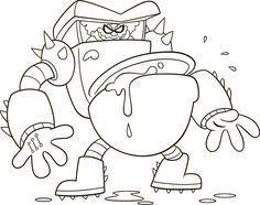 Captain Underpants Turbo Toilet 2000 Coloring Page #captainunderpantsHE #captainunderpants #coloringpage #kids #movies