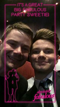 Chris Colfer & Will Sherrod at the Absolutely Fabulous : The Movie premiere in NYC July 18,2016