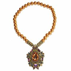 """Heidi Daus """"Dazzling Decade"""" Pendant/Pin and Necklace"""
