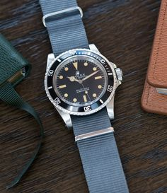 vintage Rolex Submariner 5513 steel sports watch at A Collected Man London