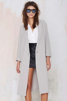 BB Dakota Caelyn Linen Coat | Shop What's New at Nasty Gal