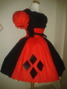 plus size harley quinn dress outline