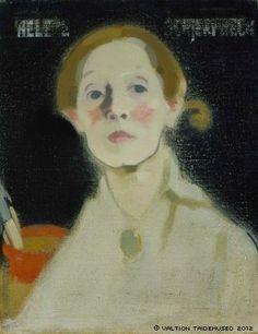 Schjerfbeck, Helene  Self-Portrait, Black Background, 1915