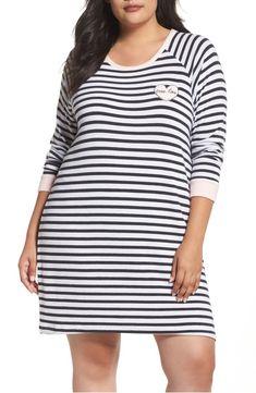 b991ac7044 Main Image - PJ Salvage Stripe Peachy Jersey Nightshirt Pjs