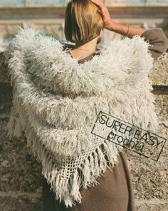 1970s crochet shawl pattern (faux fur)