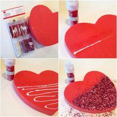 Dipped Glitter Heart Tutorial with  Martha Stewart Crafts #12MonthsofMartha