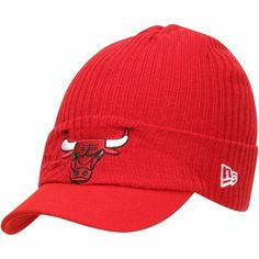New Era Chicago #Bulls #Viza Knit Visor #Hat - Red $24.95