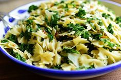Toss pasta with kale and pine nuts for a light and healthy dish with plenty of flavor. Get the recipe at The Pioneer Woman.