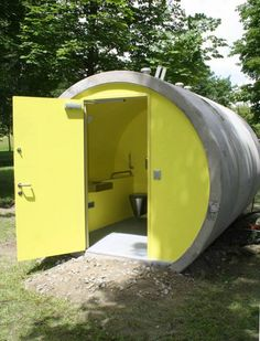 Austria's Sewer Pipe Hotel Finally Gets a Sewer Pipe Bathroom - Curbed