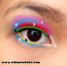 Asian makeup diagram. ^^  www.AsianSkincare.Rocks   www.SkincareInKorea.info